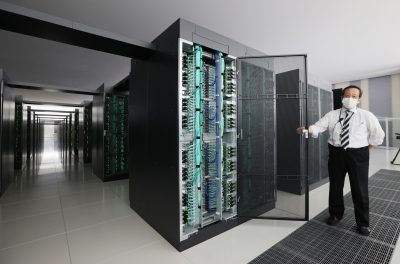 A developing supercomputer 'Fugaku' is opened to the media at RIKEN Center for Computational Sciences in Kobe City, Hyogo Prefecture on 16 June 12020 (Photo: Reuters/Yomiuri Shimbun).