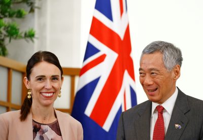 New Zealand's Prime Minister Jacinda Ardern meets with Singapore's Prime Minister Lee Hsien Loong at the Istana in Singapore, 17 May 2019 (Reuters/Feline Lim).