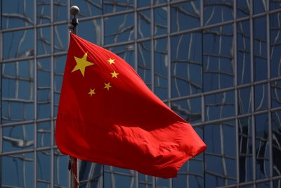 The Chinese national flag is seen in Beijing, China 29 April 2020. (Photo: Reuters/Thomas Peter).