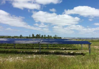 A view of Genex Power's 50 megawatt Kidston solar farm, part of a planned renewable energy project with a 250 MW pumped hydro project and a new 250 MW solar farm at the site, in northern Queensland, Australia 4 April 2019. (Photo: Reuters/Sonali Paul).