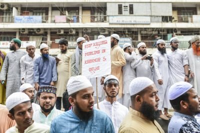 Bangladeshi Islamic party alliance demonstrate during a rally against the violence in India following the controversial citizenship law, in Dhaka, Bangladesh, 6 March 2020 (Photo: Reuters/Zabed Hasnain Chowdhury).