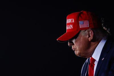 US President Donald Trump holds a campaign rally at at Miami-Opa Locka Executive Airport in Opa-Locka, Florida, US, 2 November, 2020 (Photo: Reuters/Carlos Barria).