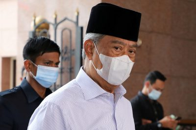 Malaysia's Prime Minister Muhyiddin Yassin wearing a protective mask amid the COVID-19 outbreak in Putrajaya, Malaysia, 28 August 2020 (Photo: Reuters/Lim Huey Teng).