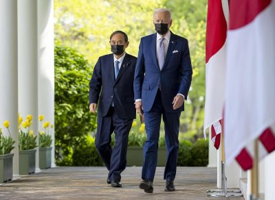 U.S. President Joe Biden And Prime Minister Of Japan Yoshihide Suga Hold A Joint Press Conference (Photo: Reuters/Mills).