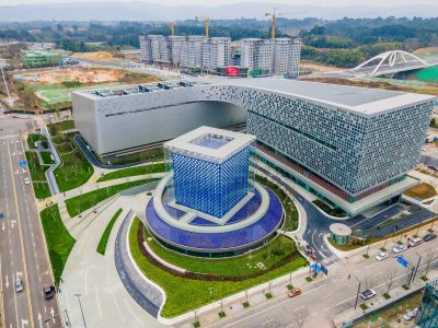 The Chengdu Supercomputing Center, built and put into operation in September 2020, has a maximum computing speed of 1 billion times per second, and has entered the top ten in the world, Luxi iValley, Chengdu Science City, Chengdu, China, 2 March, 2021 (Photo: Reuters).