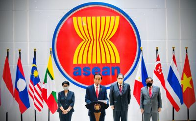Indonesian President Joko Widodo speaks during a news conference after attending the ASEAN leaders' summit at the ASEAN secretariat building in Jakarta, Indonesia, 24 April, 2021 (Photo: Laily Rachev/Indonesian Presidential Palace/Handout via Reuters).