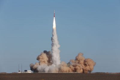 Zhuque-1, a privately developed Chinese carrier rocket by Beijing-based Landspace, lifts off from the launch pad at Jiuquan Satellite Launch Centre, Gansu province, China, 27 October 2018 (Photo: Reuters/Stringer).