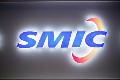 A logo of Semiconductor Manufacturing International Corporation (SMIC) is seen at China International Semiconductor Expo (IC China 2020) in Shanghai, China, 14 October 2020 (Photo: Reuters/Aly Song).