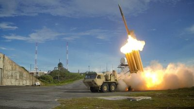 A Terminal High Altitude Area Defense (THAAD) interceptor is launched during a successful intercept test (Photo: Reuters).